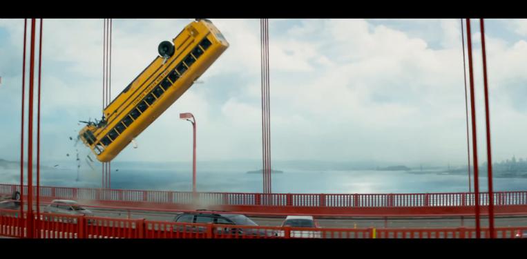 Terminator: Genisys flipping bus